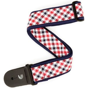 PLANET WAVES / WOVEN GUITAR STRAP (T20S1500 Gingham Woven Guitar Strap, Red and Navy) / 特価|ikebe