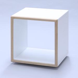 レコード収納 IKO-BOX 1M (本体+木目フレーム) (4個セット) (送料無料) ikebe