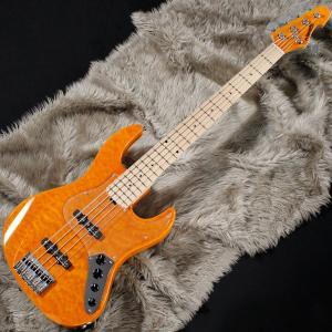 Edwards エドワーズ / E-AM-160QM (Amber) 5弦ベース / アウトレット特価|ikebe