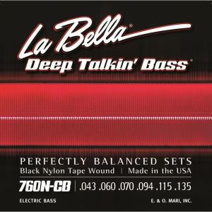 "La Bella ラベラ / 760N-CB ""BLACK NYLON TAPE WOUND Bass Strings"" 6-String|ikebe"