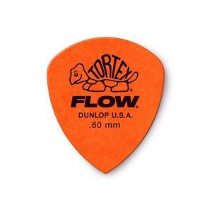 Dunlop (Jim Dunlop) ジム ダンロップ / 558 Tortex FLOW Standard Pick ×10枚セット (0.60mm/オレンジ)|ikebe