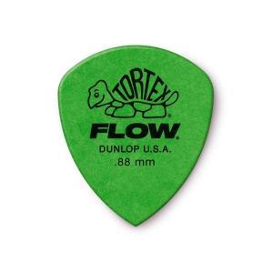 Dunlop (Jim Dunlop) ジム ダンロップ / 558 Tortex FLOW Standard Pick ×10枚セット (0.88mm/グリーン)|ikebe