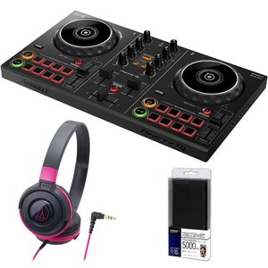 Pioneer DJ / DDJ-200 + ATH-S100BPKヘッドホン DJ初心者セット(今ならモバイルバッテリープレゼント) イケベ楽器店