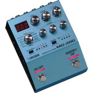 洗練されたボディに、シンプルな操作と妥協なき音質を搭載したモジュレーション  BOSSの200シリー...