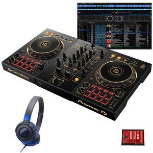 Pioneer DJ / DDJ-400-N + ATH-S100BBL 初心者ヘッドホンセット 限定ゴールドモデル (あすつく対応)(rekordbox対応)(DJ教則動画プレゼント)(djay接続ガイド付属) イケベ楽器店