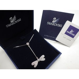★SWAROVSKI スワロフスキー ネックレス トンボモチーフ 箱/印刷物 付属|ikebukuro-e710