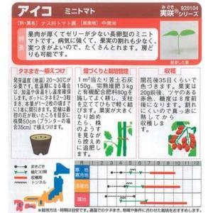 野菜種 ミニトマト アイコ 17粒 サカタ交配|ikedagreen|02