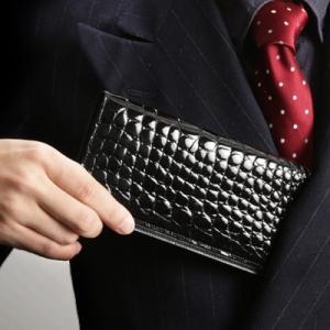【池田工芸】日本最大のクロコダイル専門店が贈るCrocodile Billcase wallet(クロコダイル ビルケースウォレット)長財布(長札入れ)【6月10日頃出荷】|ikedakohgei