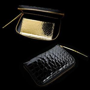 【池田工芸】《最新作》クロコダイルの老舗が贈るCrocodile Multi Wallet (クロコダイル マルチウォレット)(ゴールドパイソンモデル)【6月10日頃出荷】|ikedakohgei