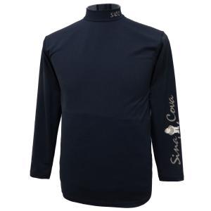 シナコバ 袖にロゴのハイネック長袖Tシャツ  伊部株式会社  品質:ポリエステル87% ポリウレタン...