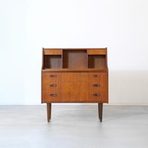 UD10404|ライティングデスク(チーク)/ミッドセンチュリー家具|デンマークの北欧ビンテージ|ikeikakunet