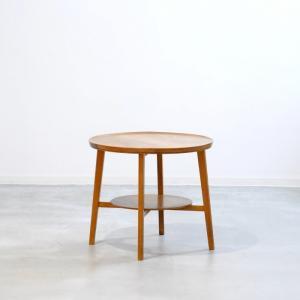 UD11109 ラウンドテーブル(オーク・幅69cm)/Nipu Kontormobler 北欧ビンテージ家具 ikeikakunet