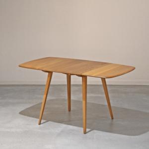DT518 ERCOL(アーコール)ドロップリーフ(伸長式)テーブル 英国ビンテージ ikeikakunet