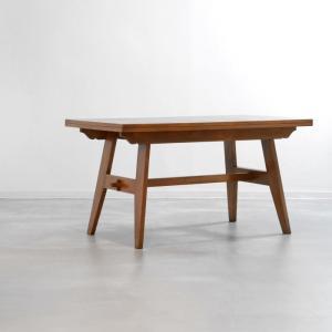 DT2397 ダイニングテーブル(幅135cm/オーク)ReneGabriel(ルネ・ガブリエル) フランチモダンなビンテージ家具 ikeikakunet