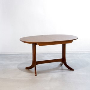 DT2342 オーバル(楕円)伸長式ダイニングテーブル/Nathan(ネイサン) UKビンテージ家具 ikeikakunet