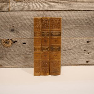 洋古書アウトレット / BIND-6(3冊セット) / 北欧デンマークのビンテージ / ディスプレイ用【全国配送一律500円(税込)】|ikeikakunet