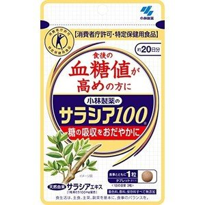 サラシア 100 小林製薬 サプリ エキス 植物 効果 20日分|ikesma