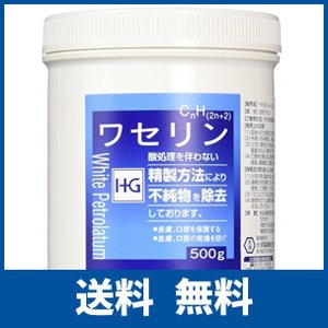 【敏感肌の方に最適!】皮膚保護 ワセリンHG 徳用500g|ikesma