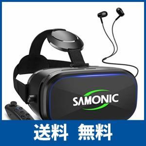 SAMONIC 3D VRゴーグル 「イヤホン、Bluetoothコントローラ、日本語説明書付属」 (ブラック)|ikesma
