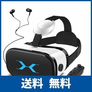 SAMONIC 3D VRゴーグル VRヘッドセット iPhone Androidスマホ対応「イヤホン、Bluetoothコントローラ、日本語説明書付|ikesma
