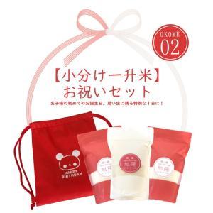 NEW「小分け一升米お祝いセット」ナップサック付き/29年度...