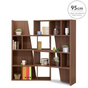 【設置代無料】スライドシェルフ 95 Woods ウッズ 国産 スライド式   本 本棚 棚 小物置き 収納 便利 幅95 シンプル ブラウン スライド 人気 おしゃれ|ikikagu