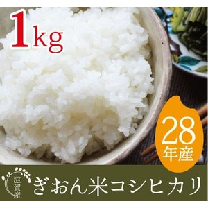 28年産 滋賀県産ぎおん米コシヒカリ お試し1kg 真空パックだから保存食、非常食にも。 だんらん日曜の晩ごはん 近江米|ikkadanran