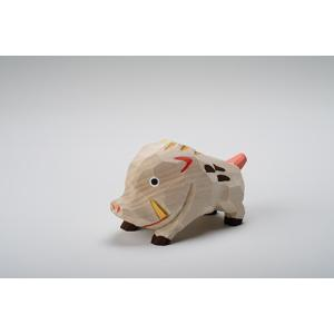 干支置物「亥」(いのしし)大サイズ/奈良一刀彫/楠/人形/猪/イノシシ/いのしし/亥