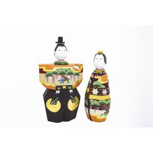 雛人形 「あきしの」5号サイズ 立雛 | 一刀彫り お雛様 手作り おしゃれ ひな人形 一刀彫 奈良|ikkisya