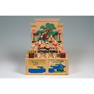 雛人形「五段飾雛」大サイズ/一刀彫/奈良/十五人飾り/ひな人形|ikkisya