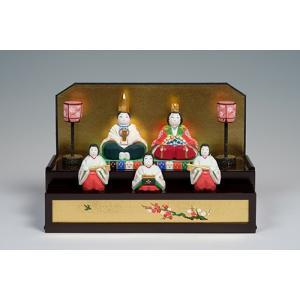 雛人形「初音」/一刀彫/奈良/五人飾り/ひな人形|ikkisya