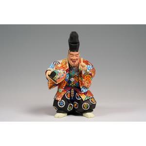 福の神(狂言) 大サイズ/奈良一刀彫/楠/木彫人形|ikkisya