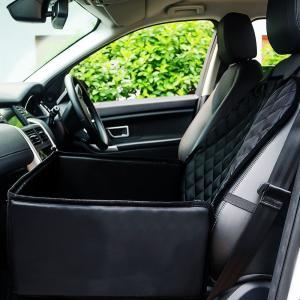 ペットを車にのせるお悩みご心配を解決します。 車の座席を保護するドライブシート!  ボックスにした状...