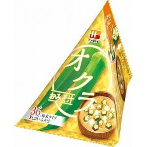 ハナマルキ 三角パックごちそう具材 オクラのおみそ汁 10入|ikkomon-marche