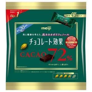 明治 チョコレート効果 カカオ72%(袋) 225g×6入
