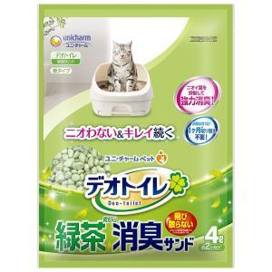 ユニチャーム 1週間消臭・抗菌デオトイレ 飛び散らない緑茶成分入り・消臭サンド 4L