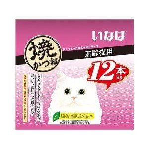いなば 焼かつお 高齢猫用 12本入り QSC-27