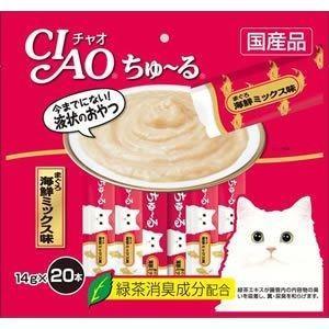 いなば チャオ ちゅ〜る 14g×20本入り まぐろ 海鮮ミックス味 SC-127|ikoapetfood