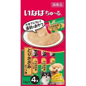 いなば INABA 犬用ちゅ〜る とりささみ ビーフ味 14g×4本 D-103
