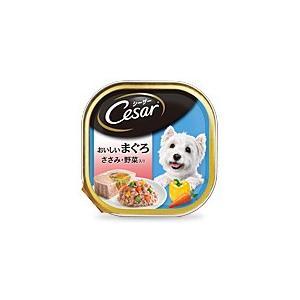 マースジャパン シーザー トレイ おいしいまぐろ ささみ・野菜入り 100g CE70N 1ケース96個セット|ikoapetfood
