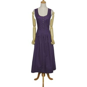 2b4b76fb9007c ハンドメイド チロル ワンピース レディースS位 ヨーロッパ古着 民族衣装 ディアンドル パープル系