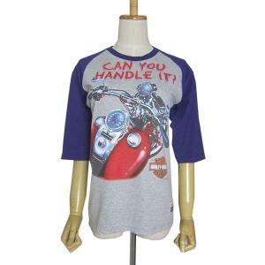 アメリカから入荷。 HARLEY-DAVIDSON ハーレーダビッドソンのTシャツを、5分袖スタイル...