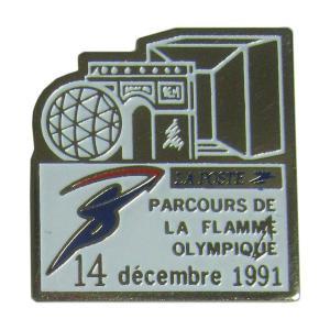 ピンズ ピン バッジ 聖火リレー オリンピック LA POSTE フランス 郵便局