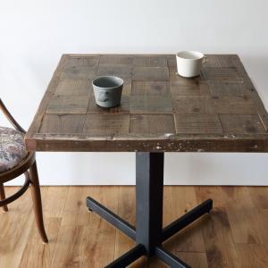 カフェテーブルパッチワーク古材天板 送料無料 ikpイカピー|ikp