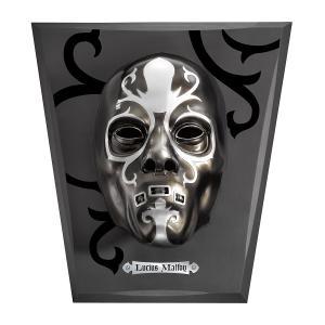 ルシウス・マルフォイのデスイーターマスク。 マスクにはマジックテープのベルトが付いており、実際に顔に...
