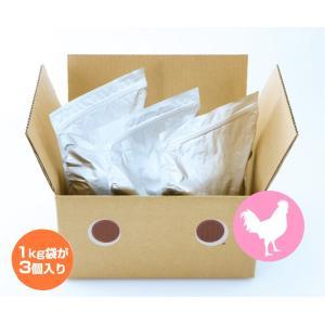 プレゼント付 ドッグフード 国産 無添加 お徳用 ドットわん鶏ごはん3kg イリオスマイル ポイント消化 iliosmile