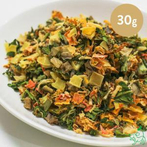 犬 野菜 手作り食 国産 無添加 季節の乾燥有機野菜ミックス 30g 北海道十勝産 イリオスマイル ポイント消化 iliosmile