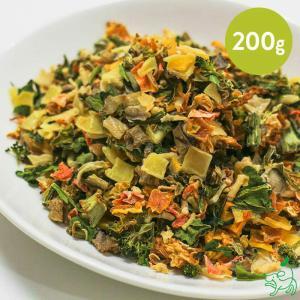 犬 野菜 手作り食 国産 無添加 季節の乾燥有機野菜ミックス 200g 北海道十勝産 イリオスマイル ポイント消化|iliosmile