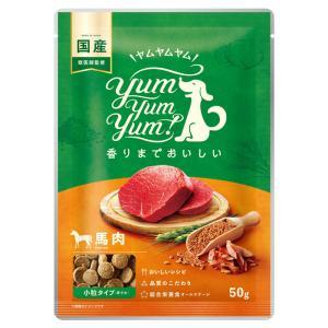 犬 ドッグフード お試し 国産 Yum Yum Yum ヤムヤムヤム 馬肉 ドライタイプ 50g イリオスマイル ポイント消化 iliosmile
