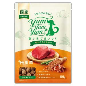 犬 ドッグフード お試し 国産 Yum Yum Yum ヤムヤムヤム 馬肉 やわらかドライタイプ 80g イリオスマイル ポイント消化 iliosmile